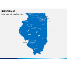 illinois Map PPT Slide 1