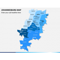 Johannesburg Map PPT Slide 1