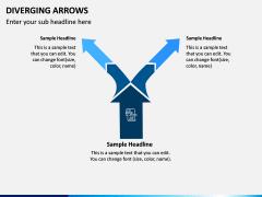 Diverging Arrows PPT Slide 6