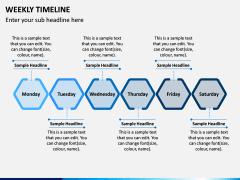 Weekly Timeline PPT Slide 3