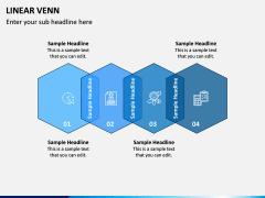 Linear Venn Diagram PPT Slide 8