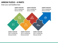 Arrow Puzzle – 6 Parts PPT Slide 2
