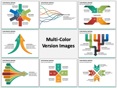 Converging Arrows PPT Multicolor Combined