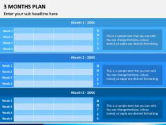 3 Months Plan PPT Slide 6