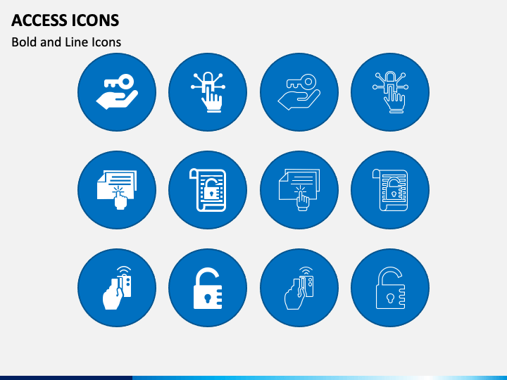 Access Icons PPT Slide 1