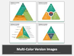 Triangle of Success PPT Multicolor Combined