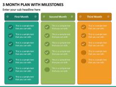 3 Month Plan with Milestones PPT Slide 6