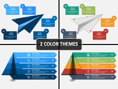 Paper Plane Infographic PPT Cover Slide