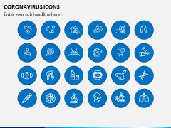 Coronavirus Icons PPT Slide 3