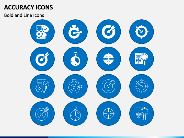 Accuracy Icons PPT Slide 1