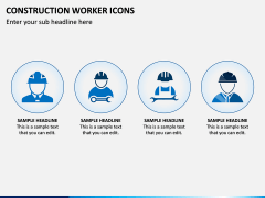 Construction Worker Icons PPT Slide 3