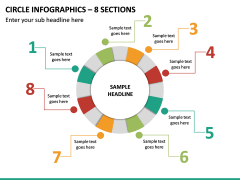 Circle Infographics – 8 Sections PPT Slide 2