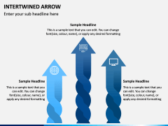 Interwined Arrow PPT Slide 2