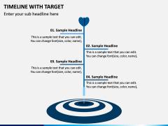 Timeline With Target PPT Slide 5