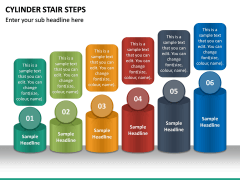 Cylinder Stair Steps PPT Slide 6