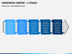 Horizontal Arrow - 5 Stages PPT Slide 1