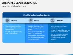 Disciplined Experimentation PPT Slide 5