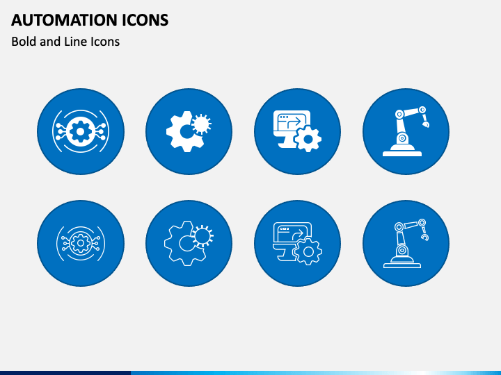 Automation Icons PPT Slide 1