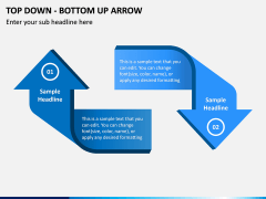 Top Down Bottom Up Arrow PPT Slide 4