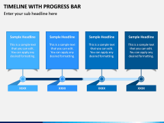 Timeline With Progress Bar PPT Slide 1