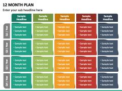 12 Month Plan PPT Slide 4