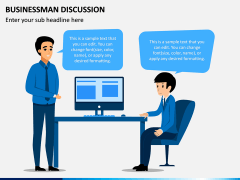 Businessman Discussion PPT Slide 2