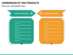 Comparison Of Two Products PPT Slide 2
