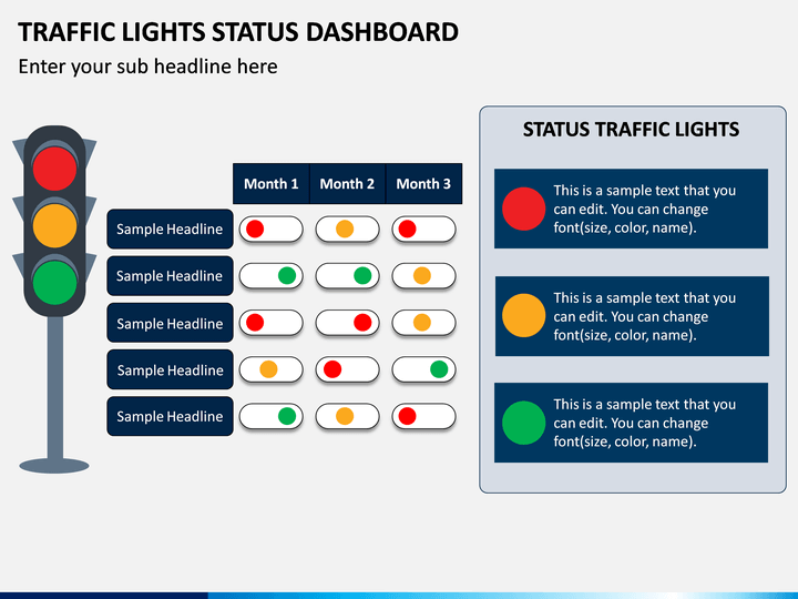 Traffic Lights Status Dashboard PPT Slide 1