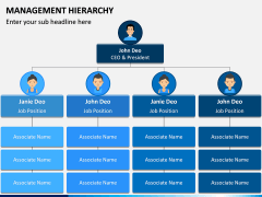 Management Hierarchy PPT Slide 1