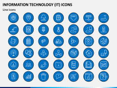 Information Technology (IT) Icons PPT Slide 6