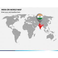 India on World Map PPT Slide 1