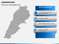 Lebanon Map PPT Slide 3