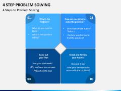 4 Step Problem Solving PPT Slide 3