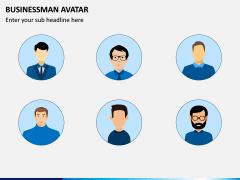Business Man Avatar PPT Slide 1