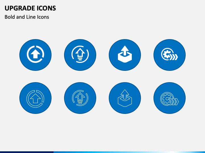 Upgrade Icons PPT Slide 1