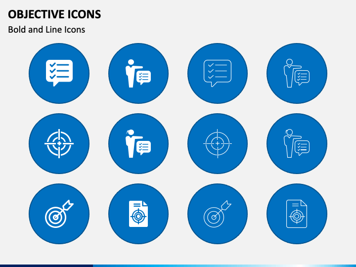 Objective Icons PPT Slide 1