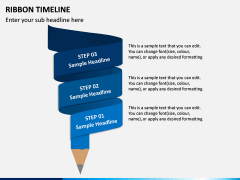 Ribbon Timeline PPT Slide 6