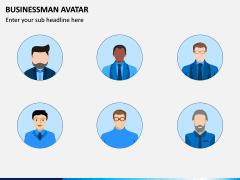 Business Man Avatar PPT Slide 2