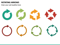 Rotating Arrows PPT Slide 4