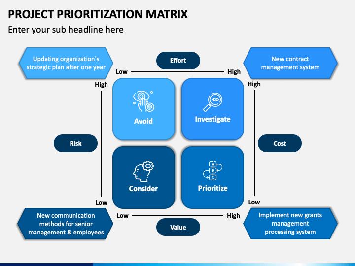 Project Prioritization Matrix PPT Slide 1