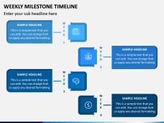 Weekly Milestone Timeline PPT Slide 3