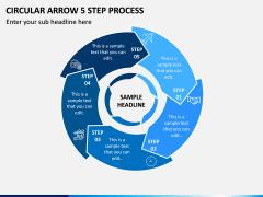 Circular Arrow 5 Step Process PPT Slide 1