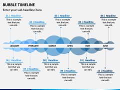 Bubble Timeline PPT Slide 2