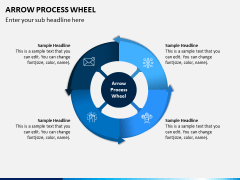 Arrow Process Wheel PPT Slide 4