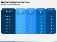 Features Matrix PPT Slide 1