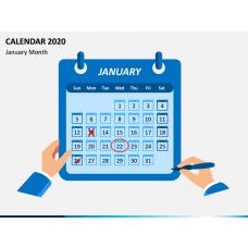 Calendar 2020 - Type 1 PPT Slide 1