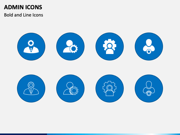 Admin Icons PPT Slide 1