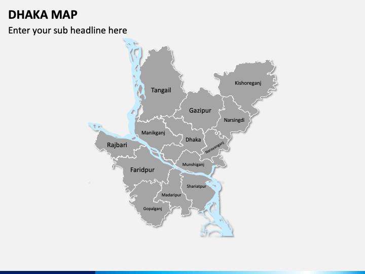 Dhaka Map PPT Slide 1