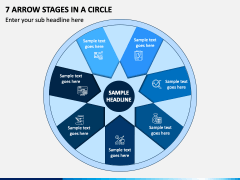 7 Arrow Stages in a Circle - Free PPT Slide 1