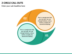 2 Circle Call Outs PPT Slide 2